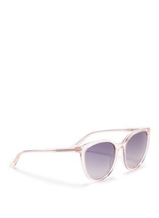 模特儿示范图 - 点击放大 - OXYDO - Translucent cat eye acetate sunglasses