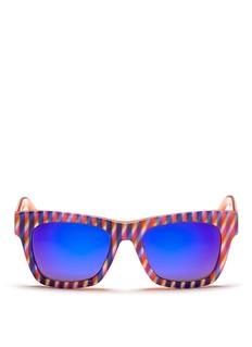 OXYDOPsychadelic stripe acetate sunglasses