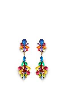 ERICKSON BEAMON'Splash' crystal flower drop earrings