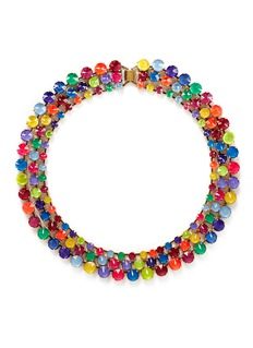 ERICKSON BEAMON'Splash' multi strand crystal necklace