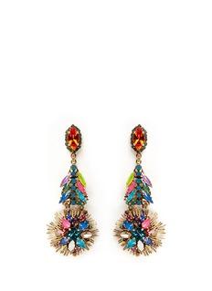 ERICKSON BEAMON'Telepathic' crystal firework drop earrings