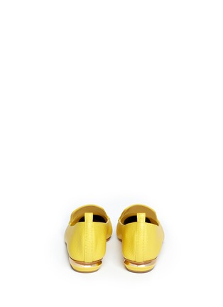 Back View - Click To Enlarge - Nicholas Kirkwood - Grainy leather loafers