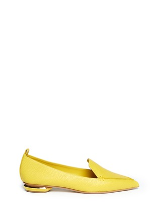 Main View - Click To Enlarge - Nicholas Kirkwood - Grainy leather loafers