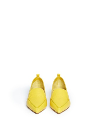 Figure View - Click To Enlarge - Nicholas Kirkwood - Grainy leather loafers