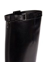 Top strap leather riding boots