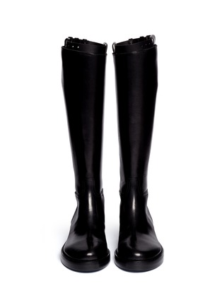 ANN DEMEULEMEESTER - Top strap leather riding boots