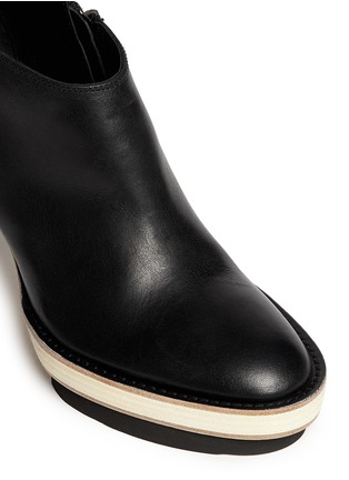 Detail View - Click To Enlarge - ANN DEMEULEMEESTER - Double platform acetate heel leather booties