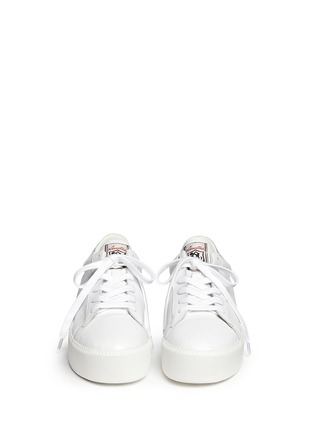 Figure View - Click To Enlarge - Ash - 'Cult' holographic trim leather platform sneakers
