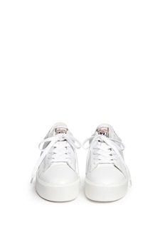 ASH 'Cult' holographic trim leather flatform sneakers