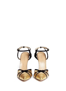 CHARLOTTE OLYMPIA 'Minx' Chinese knot textured metallic leather pumps