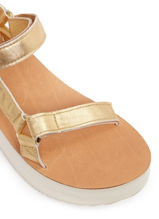 Detail View - Click To Enlarge - Teva - 'Flatform Universal Mirrored Metallic' leather sandals