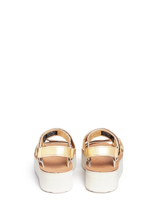 Back View - Click To Enlarge - Teva - 'Flatform Universal Mirrored Metallic' leather sandals