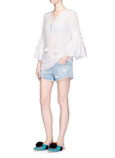 Figue'Poet' lace-up silk blouse