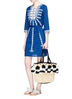 Figue'Sophie' pompom embroidered kaftan dress