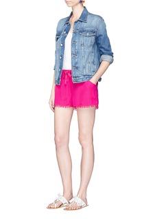 Figue'Maja' pompom silk shorts
