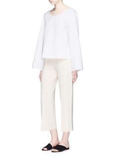 The Row'Nuro' cotton-silk faille top