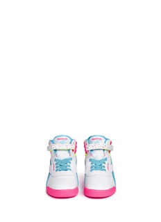 Reebok 'Freestyle Hi Birthday' colourblock leather toddler sneakers