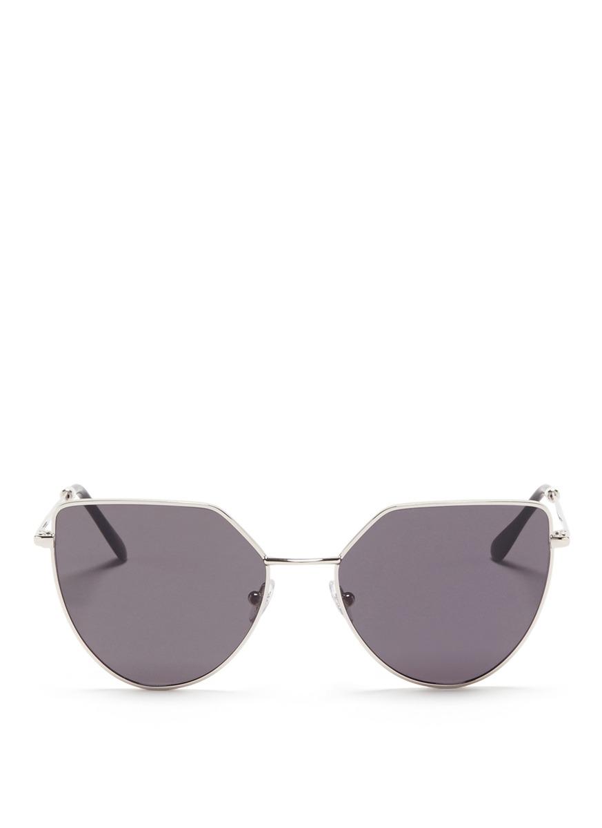 Off Shore flat lens metal angular aviator sunglasses by Spektre