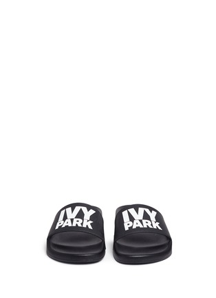 Front View - Click To Enlarge - Ivy Park - Logo rubber slide sandals