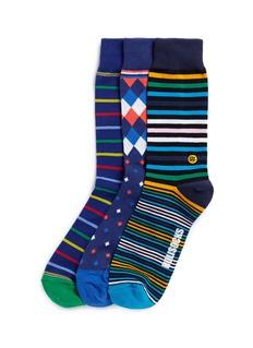 HolisocksPatterned socks 3-pair pack