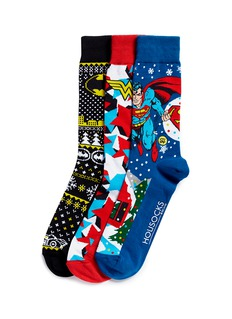 Holisocks x DC Comics Christmas socks 3-pair pack