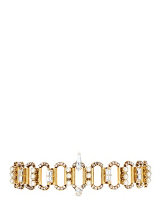 Main View - Click To Enlarge - Erickson Beamon - 'Born Again' crystal chain link grosgrain choker