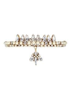 Erickson Beamon'Born Again' Swarovski crystal velvet choker