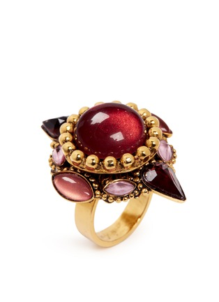 Detail View - Click To Enlarge - Erickson Beamon - 'Hunky Dory' cabochon ring
