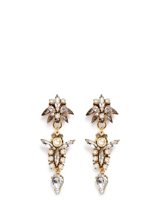 Main View - Click To Enlarge - Erickson Beamon - 'Born Again' glass pearl crystal drop earrings