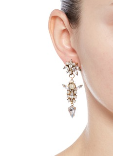 Erickson Beamon 'Born Again' glass pearl crystal drop earrings