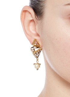 Erickson Beamon 'Bermuda Triangle' glass pearl earrings