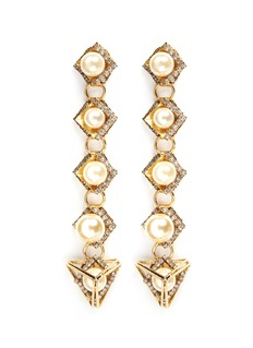 Erickson Beamon 'Bermuda Triangle' glass pearl drop earrings