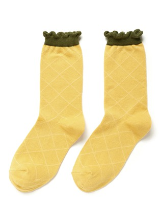 Main View - Click To Enlarge - HANSEL FROM BASEL - Pineapple crew socks