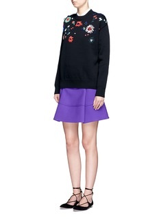 VICTORIA, VICTORIA BECKHAM Flower embroidered sweater