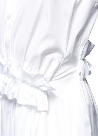 Detail View - Click To Enlarge - VICTORIA, VICTORIA BECKHAM - Ruffle panel cotton poplin shirt dress