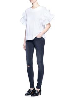 VICTORIA, VICTORIA BECKHAMRuffle sleeve cotton T-shirt