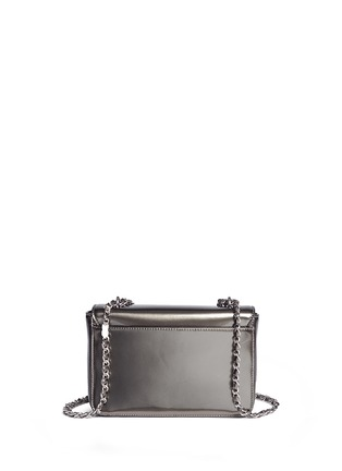 Back View - Click To Enlarge - Tory Burch - 'Mercer' adjustable metallic leather shoulder bag