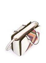 'Robinson' small suede stripe saffiano leather zip tote
