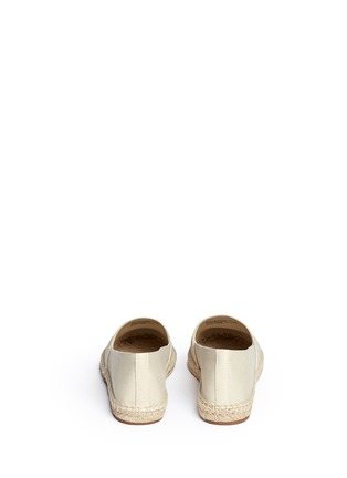 Back View - Click To Enlarge - Tory Burch - 'Jamie' leather logo colourblock canvas espadrille slip-ons