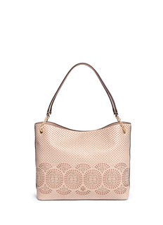 Tory Burch'Zoey' floral perforated leather tote