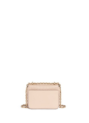 Back View - Click To Enlarge - Tory Burch - 'Zoey' floral perforated leather chain shoulder bag
