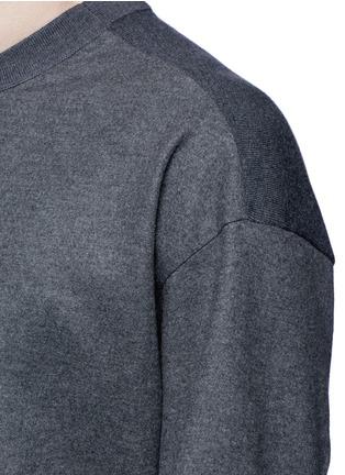Tomorrowland-Ribbed shoulder wool felt sweater