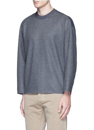 Front View - Click To Enlarge - Tomorrowland - Ribbed shoulder wool felt sweater