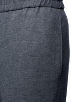 Drawstring wool felt pants