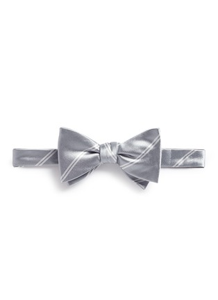 Main View - Click To Enlarge - Tomorrowland - Stripe cotton-silk satin bow tie