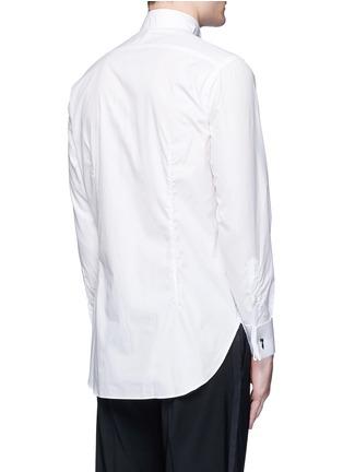 背面 - 点击放大 - TOMORROWLAND - 翼领条纹拼贴纯棉衬衫