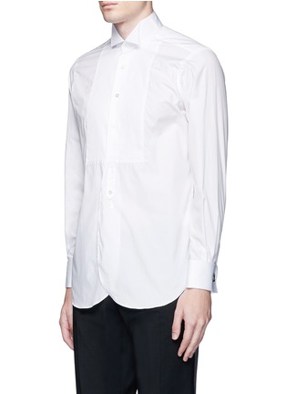 正面 -点击放大 - TOMORROWLAND - 翼领条纹拼贴纯棉衬衫