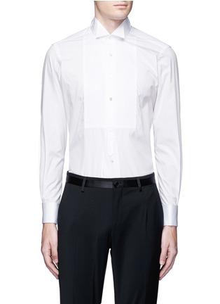 首图 - 点击放大 - TOMORROWLAND - 翼领条纹拼贴纯棉衬衫