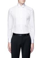 Wingtip collar cotton poplin shirt