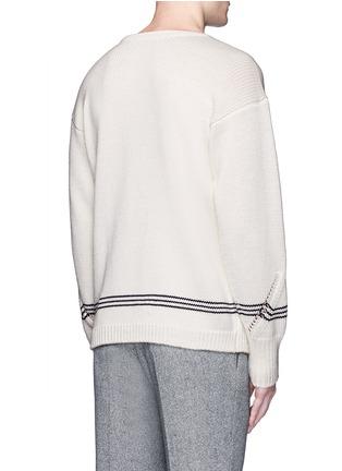 背面 - 点击放大 - TOMORROWLAND - 镂空箭头图案羊毛针织衫